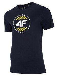 חולצת T פור אף לגברים 4F H4L20 TSM022 - כחול כהה