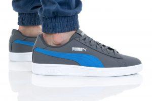 נעליים פומה לגברים PUMA SMASH V2 BUCK - אפור/כחול
