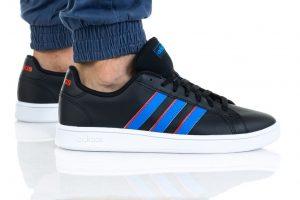 נעלי סניקרס אדידס לגברים Adidas Grand Court - שחור/כחול