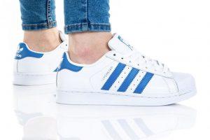 נעלי סניקרס אדידס לנשים Adidas Originals Superstar Foundation - כחול/לבן