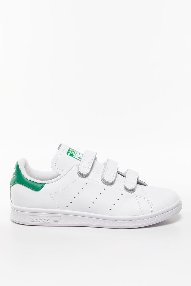 נעלי סניקרס אדידס לגברים Adidas STAN SMITH CF - לבן/ירוק