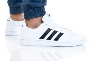 נעלי סניקרס אדידס לגברים Adidas Grand Court - לבן/שחור
