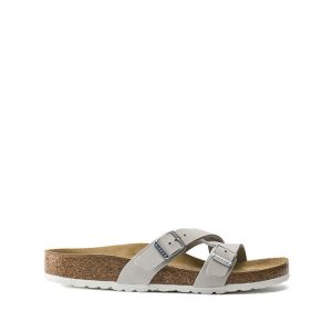נעליים בירקנשטוק לנשים Birkenstock Yao - אפור בהיר