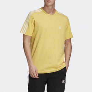 ביגוד אדידס לגברים Adidas Tech Tee - צהוב