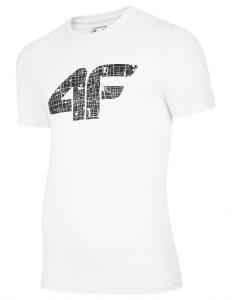 חולצת T פור אף לגברים 4F H4L20 TSM012 - לבן