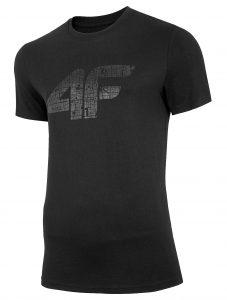 חולצת T פור אף לגברים 4F H4L20 TSM012 - שחור