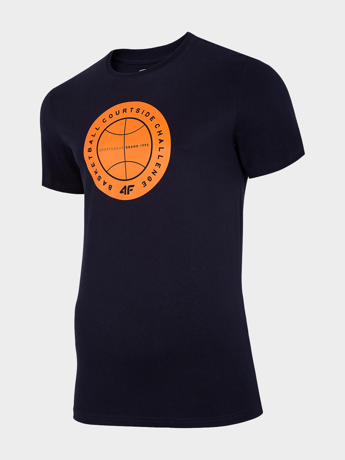 חולצת T פור אף לגברים 4F H4L20 TSM027 - שחור