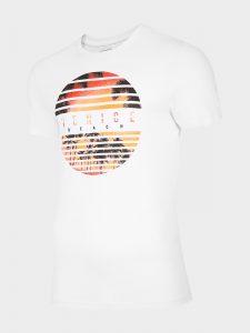 חולצת T פור אף לגברים 4F H4L20 TSM033 - לבן