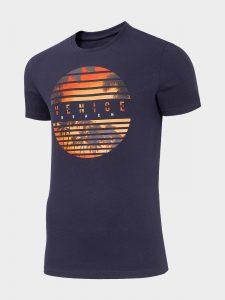 חולצת T פור אף לגברים 4F H4L20 TSM033 - סגול