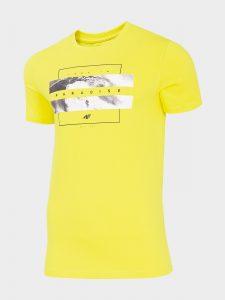 חולצת T פור אף לגברים 4F H4L20 TSM035 - צהוב