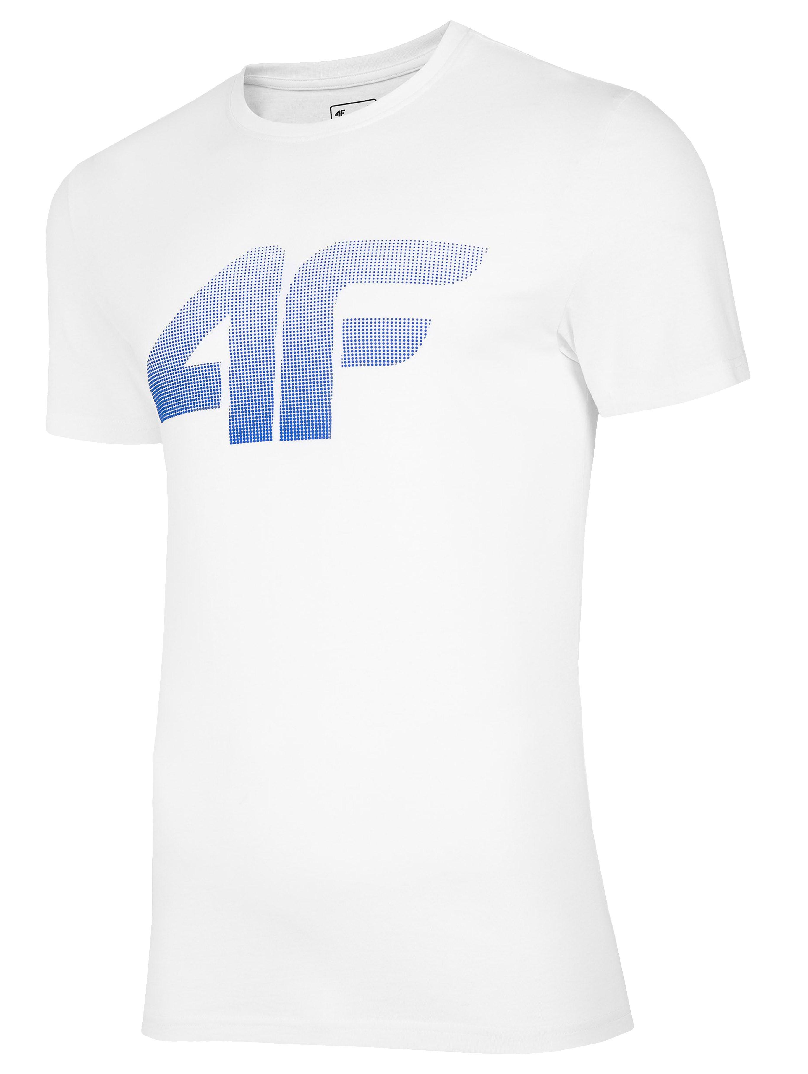 חולצת T פור אף לגברים 4F H4L20 TSM012 - לבן הדפס