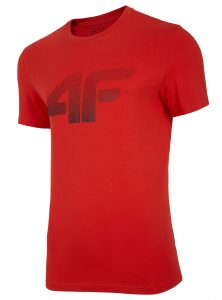 חולצת T פור אף לגברים 4F H4L20 TSM012 - אדום