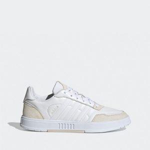 נעלי סניקרס אדידס לגברים Adidas Courtmaster - לבן