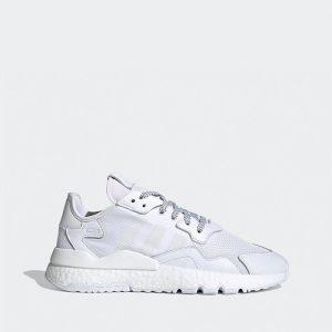 נעלי סניקרס אדידס לגברים Adidas Originals Nite Jogger - לבן מלא