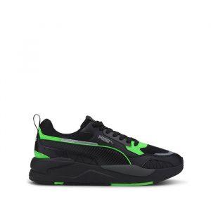 נעלי סניקרס פומה לגברים PUMA X-Ray 2 Square - שחור/ירוק