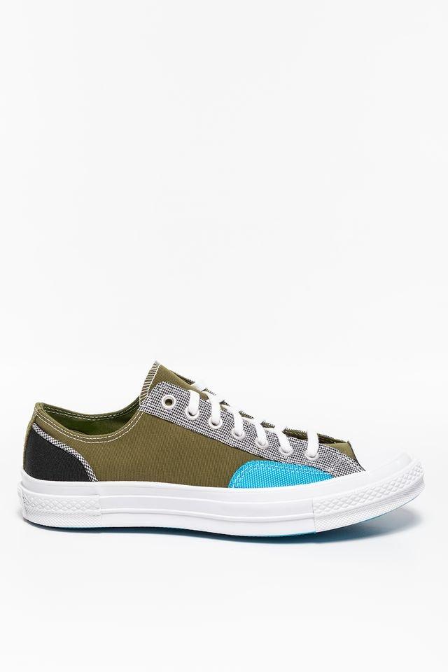 נעלי סניקרס קונברס לגברים Converse CHUCK 70 OX DARK - צבעוני כהה