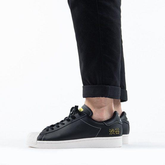 נעלי סניקרס אדידס לגברים Adidas Originals Superstar Pure - שחור/לבן