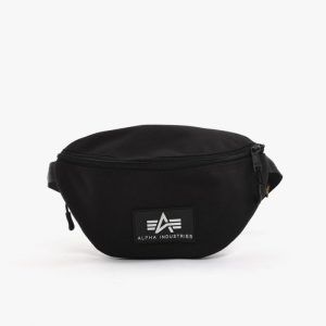 אביזרים אלפא אינדסטריז לגברים Alpha Industries Rubber Print Waistbag - שחור