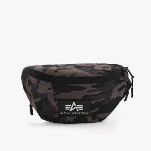 אביזרים אלפא אינדסטריז לגברים Alpha Industries Rubber Print Waistbag - צבעוני כהה