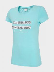 חולצת T פור אף לנשים 4F H4L20 TSD024 - כחול