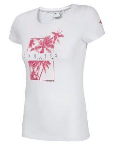 חולצת T פור אף לנשים 4F H4L20 TSD025 - לבן