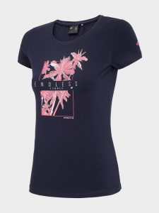 חולצת T פור אף לנשים 4F H4L20 TSD025 - שחור