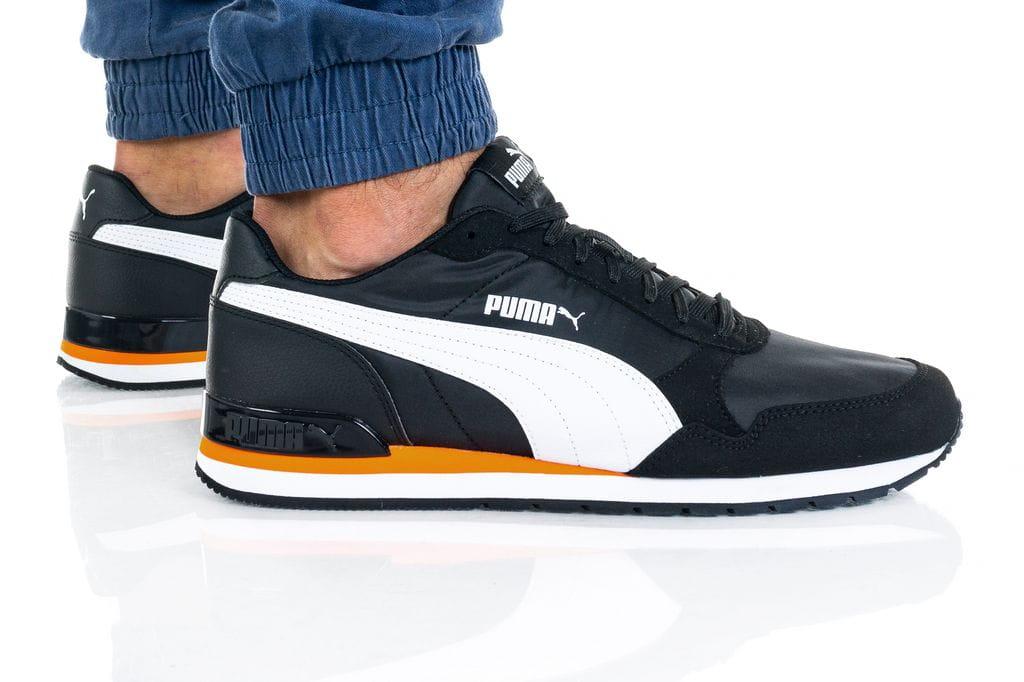 נעלי סניקרס פומה לגברים PUMA ST Runner v2 Mesh - שחור/צהוב