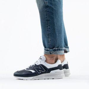 נעלי סניקרס ניו באלאנס לגברים New Balance CM997 - כחול כההלבן