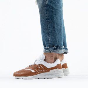 נעליים ניו באלאנס לגברים New Balance CM997 - לבןחום