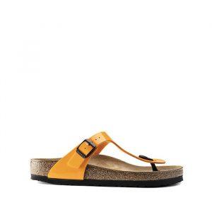 נעליים בירקנשטוק לנשים Birkenstock Gizeh - צהוב בהיר