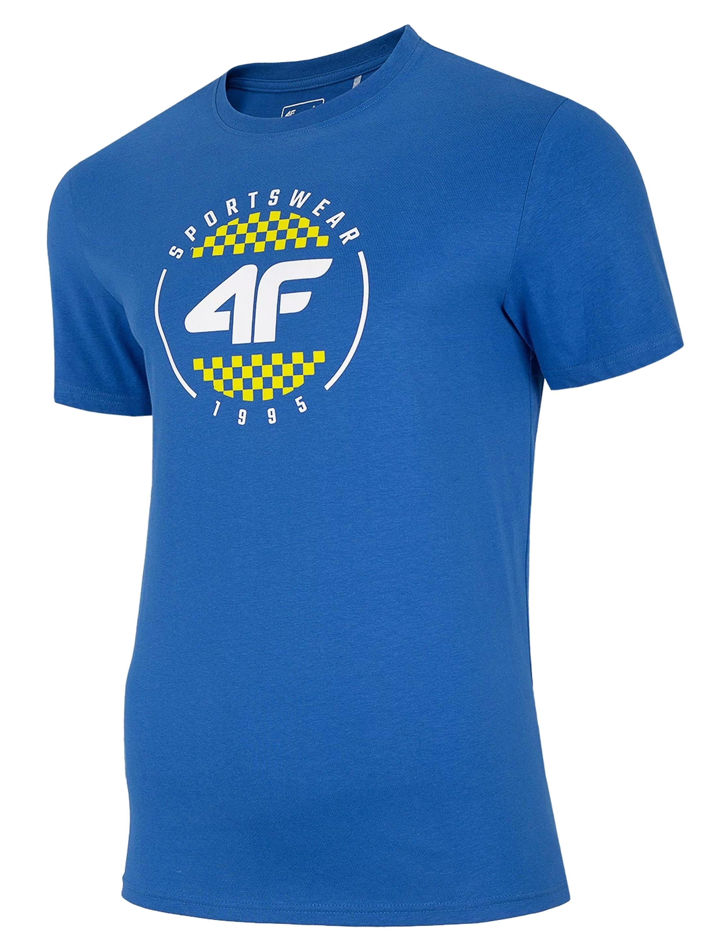 חולצת T פור אף לגברים 4F H4L20 TSM022 - כחול