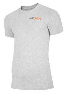 חולצת T פור אף לגברים 4F H4L20 TSM030 - אפור