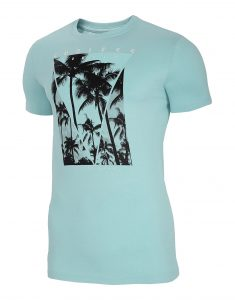 חולצת T פור אף לגברים 4F H4L20 TSM034 - טורקיז