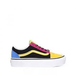 נעליים ואנס לנשים Vans Old Skool Platform - צבעוני