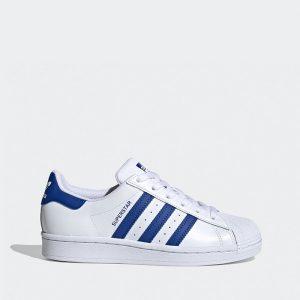 נעלי סניקרס אדידס לנשים Adidas Originals Superstar 2.0 J - לבן/ כחול