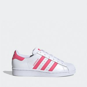 נעליים Adidas Originals לנשים Adidas Originals Superstar 2.0 J - לבן/ורוד
