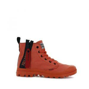 נעליים פלדיום לגברים Palladium Pampa Unzipped - שחור/אדום