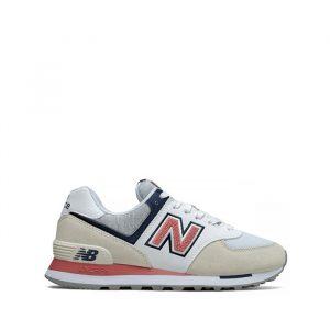 נעליים ניו באלאנס לנשים New Balance WL574 - לבן/ורוד