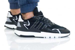 נעליים אדידס לגברים Adidas NITE JOGGER - שחור/לבן