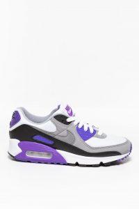 נעלי סניקרס נייק לנשים Nike Air Max 90 - לבן/סגול