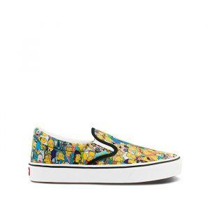 נעליים ואנס לגברים Vans THE SIMPSONS X COMFYCUSH SLIP-ON - צבעוני/לבן