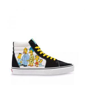 נעליים ואנס לגברים Vans THE SIMPSONS X 1987-2020 SK8-HI - צבעוני
