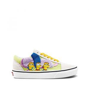 נעליים ואנס לגברים Vans THE SIMPSONS X THE BOUVIERS OLD SKOOL - צבעוני/לבן