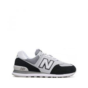 נעלי סניקרס ניו באלאנס לגברים New Balance ML574 - שחור/לבן