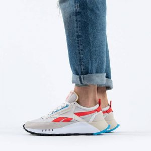 נעלי סניקרס ריבוק לגברים Reebok Classic Legacy - לבן/אדום