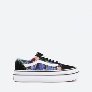 נעלי סניקרס ואנס לנשים Vans Ua Super ComfyCush Old Skool - צבעוני/שחור