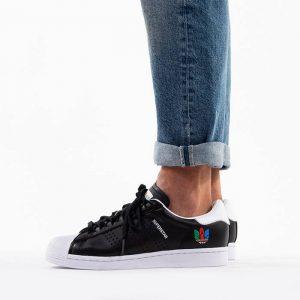 נעליים אדידס לגברים Adidas Originals Superstar - שחור