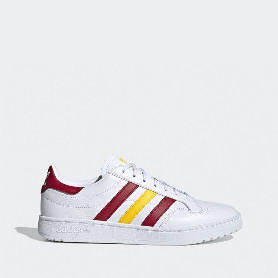 נעלי סניקרס אדידס לגברים Adidas TEAM COURT - לבן/צהוב