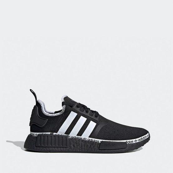 נעלי סניקרס אדידס לגברים Adidas Originals Nmd R1 - שחור/לבן
