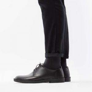 נעליים Clarks Originals לגברים Clarks Originals Desert London Black Polished - שחור